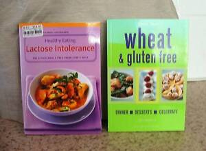 Wheat & Gluten Free plus Lactose Intolerance Cookbooks Charlestown Lake Macquarie Area Preview