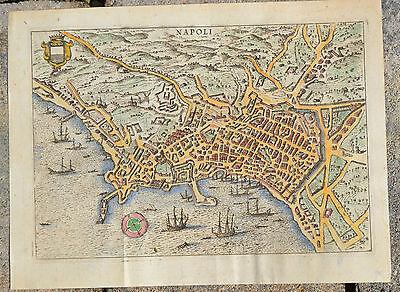 Napoli - Neapel Italien Hafen Stadt Ansicht - Kupferstich - 1761 original