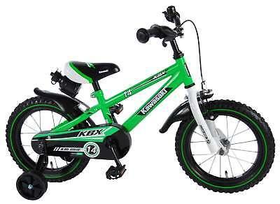 Kawasaki Fahrrad 14 Zoll Kinderfahrrad Rücktrittbremse Stützräder Jungen Grün