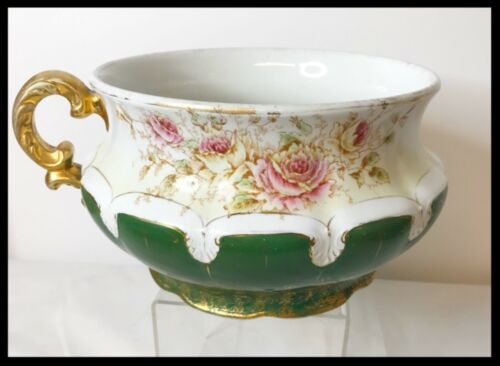ca 1899 Antique Goodwin Pottery Floral Design Chamber Pot