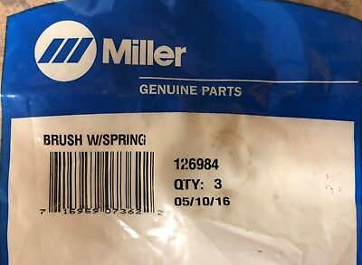 Miller 126984 Brush With Spring For Gasolinediesel Welders 3 Brushes Genuine