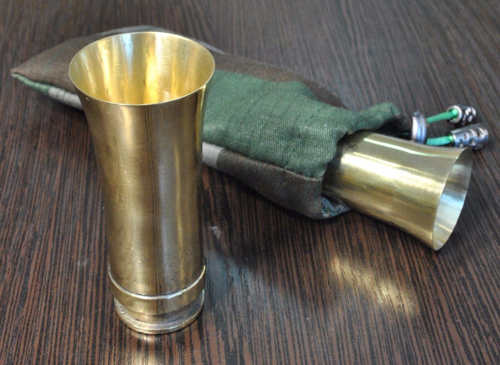 Vintage Metal Shot Glass Germany WWII WW2 Flak original Army Trench Art Deco