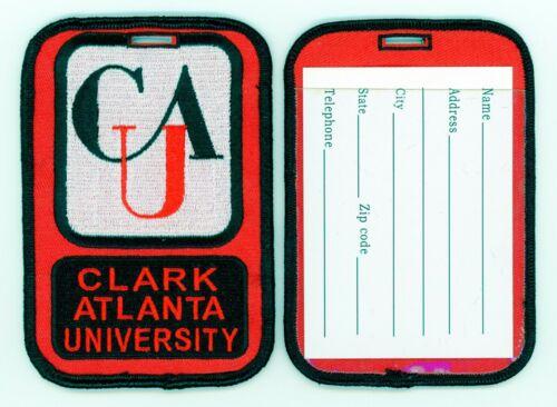 CLARK ATLANTA UNIVERSITY Luggage ID Tags (Set of 2) Embroidered Large CAU - HBCU