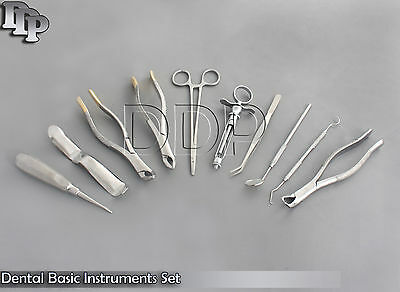 Set Of 10 Pcs Oral Dental Extraction Kitextracting Forceps 15015123 Ex-342