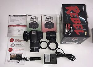 +$1500 Canon Rebel T4i batterie chargeur boite comme neuf!