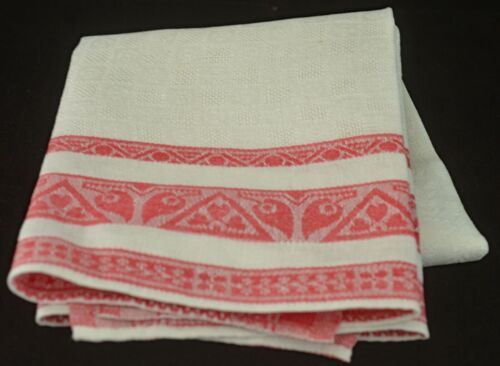 Antique ART DEC0 Linen TOWEL with Drawn Work VV260