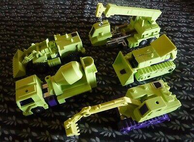 Vintage Hasbro 1984-Construction Devastator G1 Transformers/5 pcs
