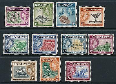 Pitcairn Islands 1957 SG 18-28 MNH