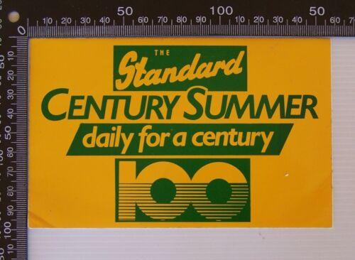 VINTAGE THE STANDARD NEWSPAPER WARRNAMBOOL 100 YEARS ADVERTISING PROMO STICKER