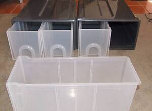 two plastic filing boxes with double drawers Macclesfield Mount Barker Area Preview