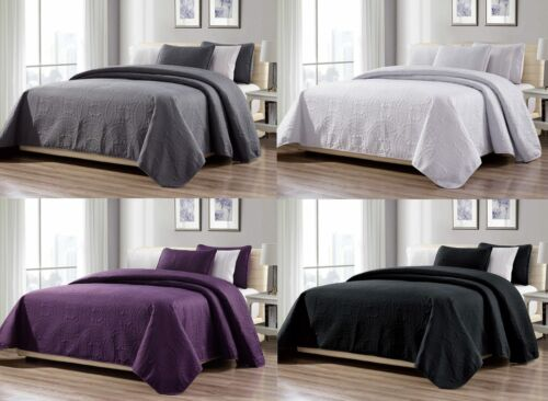 3-Piece New Linen Plus Collection Over size Bedspread Coverlet Set 4 COLORS Bedding