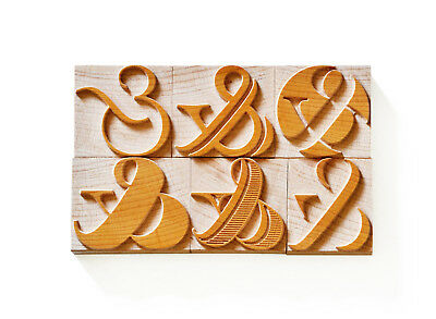 Letterpress Ampersand No. 01 - Wood Type 12 Line 508 Mm - 6 Pieces