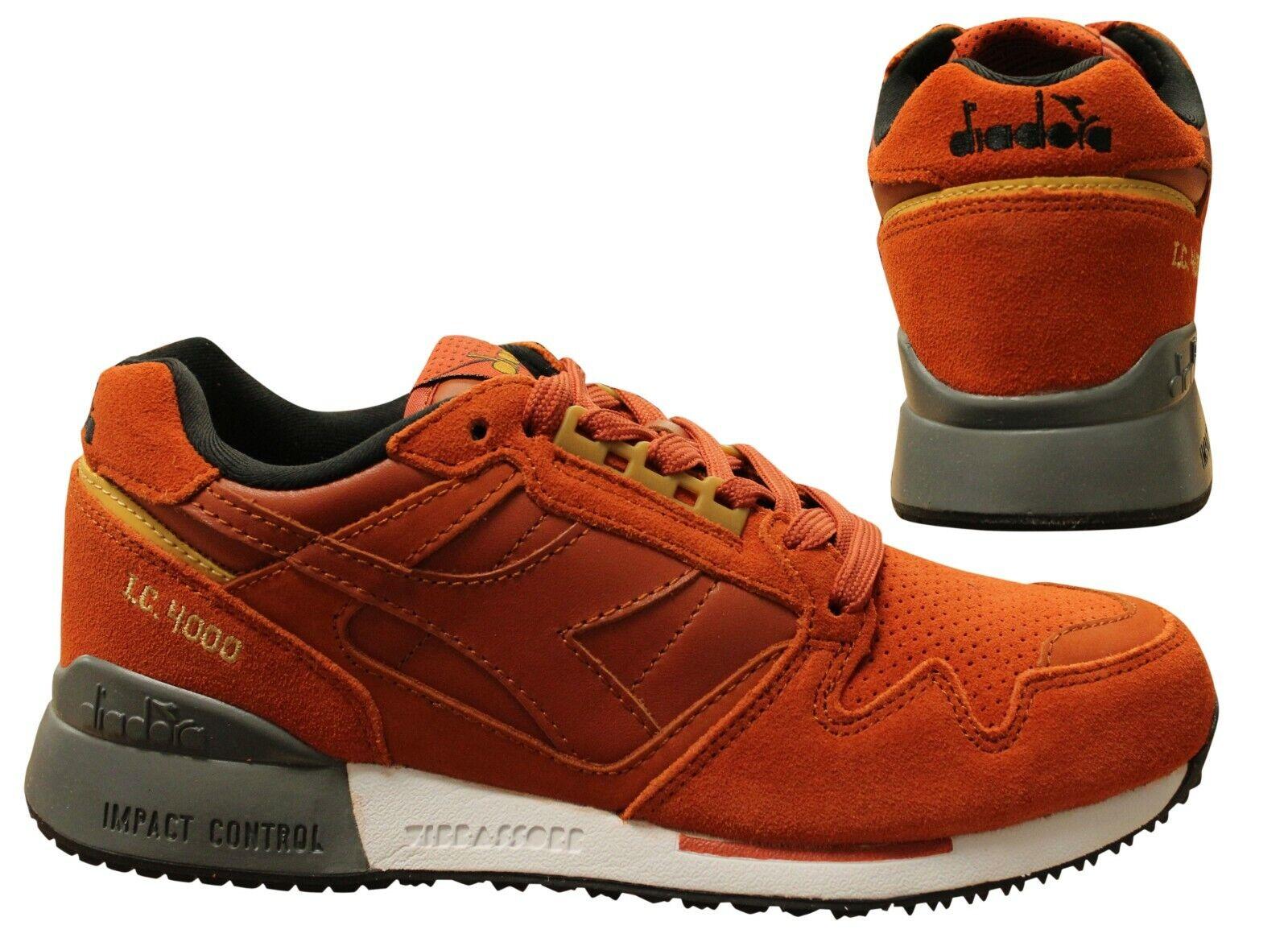 Details about Diadora Impact Control 4000 Premium Orange Lace Up Mens Trainers 40060 B119E