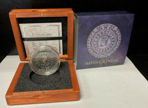 2018 Mayan Calendar Niue Island 2oz .999 $5 Silver Coin COA & Display Box