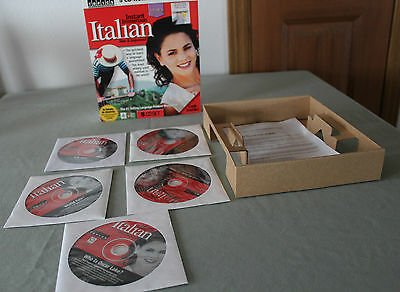 Instant Immersion Language Software   Italian 5 Cd Rom Deluxe Pc Edition