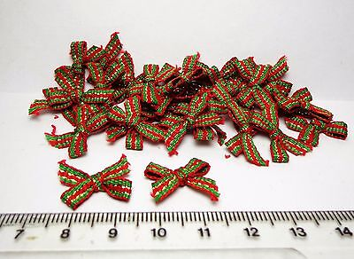 1:12 Scale Tiny Bows x 20  (Green & Red)