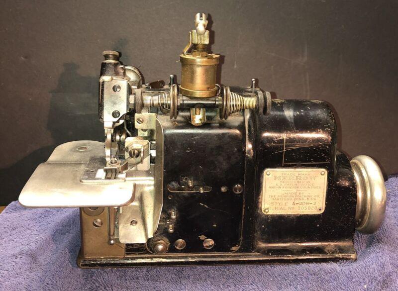 Vintage MERROW A-3DW-3  3-Thread Industrial Sewing Machine