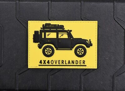 4x4 Overlander 3D PVC Morale Patch 4WD Offroad Jeep Wrangler RTT Overland Trail