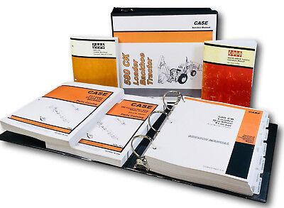 Case 580ck Tractor Loader Backhoe Service Parts Operators Manual Master Shop Set