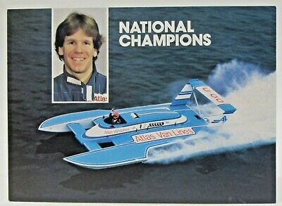 Smart 1989 Budweiser Promo Color Card Picture Print Hydroplane Boat Racing Sports Mem, Cards & Fan Shop