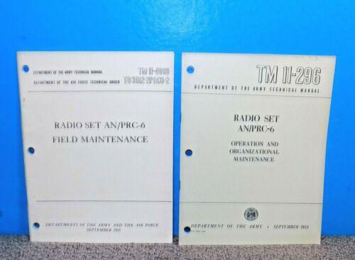 Radio Set AN/PRC-6 Technical Manuals TM11-4069 & TM11-296 1955