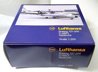 Herpa / Hogan Wings 1:200 Lufthansa B727-200 Karlsruhe D-ABCI - Flugzeugmodell for sale  Shipping to Canada