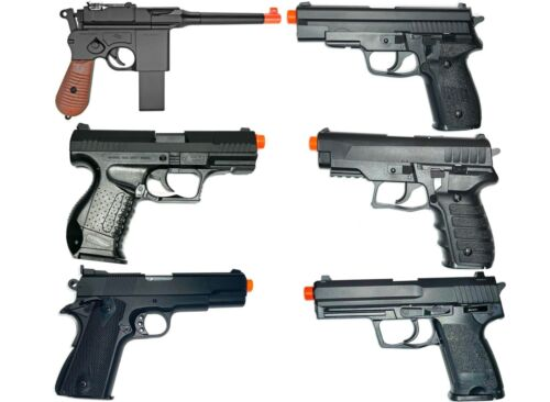 Top Quality Variety Options Full Sized Spring Pistol HandGuns Airsoft Collection