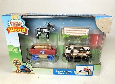 Thomas Tank Engine Train Wooden Railway Wood Diesel's Dairy Dropoff Milk Splatte