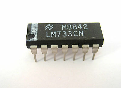 Lm733cn Differential Amplifier Ic 14-pin Dip
