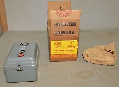 Vintage Delta Rockwell New Old Stock No 1320 1-12 Hp Motor Starter Switch Nib