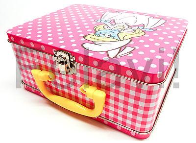 Aufbewahrungsbox - Spielzeugkoffer - Metall - Schlumpfine - Neu 20 X 16 Cm (F17)