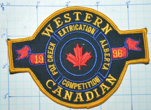 CANADA, WESTERN CANADIAN EXTRICATION COMPETITION FOX CREEK ALBERTA 1996 PATCH