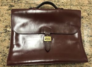 6d6cb354a ... netherlands hermes sac a depeche burgundy leather briefcase attaché  9f01d e8443