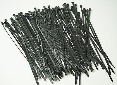 11 Long 100 Pcs Black 50 Lb Uv Resist Heavy Duty Cable Zip Ties Wraps Usa Made