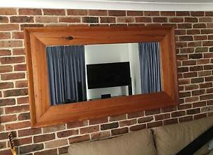 Large Timber Frame Mirror 1800 x 1050 Hinchinbrook Liverpool Area Preview