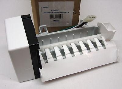 Ice Maker for Whirlpool Kitchenaid 2198597 Refrigerator Icemaker AP3182733