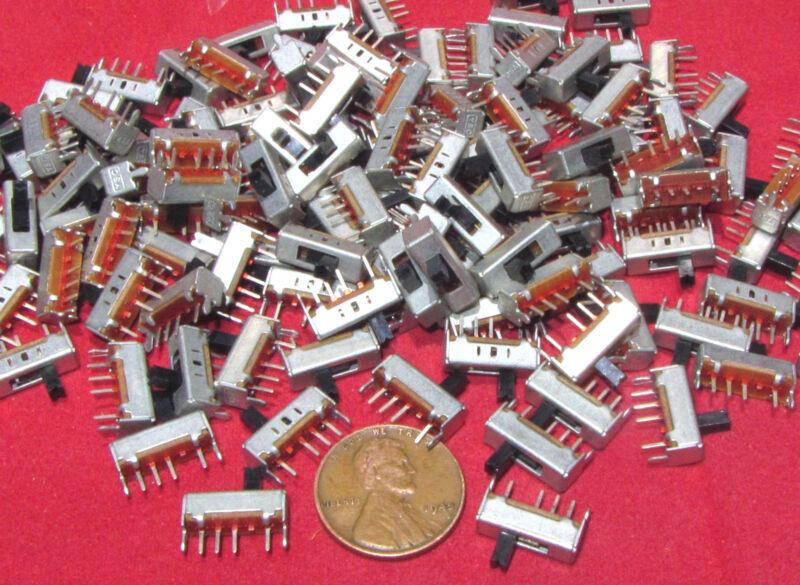 25 Piece YSC SS1301 3 Position Mini Slide Switch SP3T ON-ON-ON 300mA 50V DC SPTT