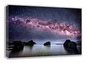 THE MILKY WAY GALAXY ABOVE THE OCEAN SPACE CANVAS WALL ART 30