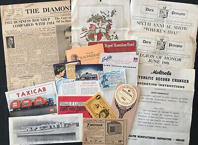 Vintage Ads, ink blotters & more than 35 Paper Memorabilia [+new Apple logo]