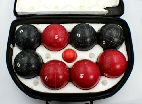 Vintage Sportcraft Petanque/Bocce Ball Set Made in Italy 8 Balls And 1 Pallino