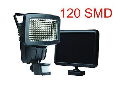 120 LED Solar Powered Outdoor Garden Motion Sensor Security Flood Light Spot Lam