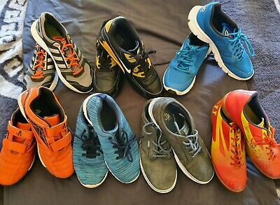 Boys Junior Size 5 & 6 Trainers Bundle x 7 Adidas Vans Kalenji Various Brands
