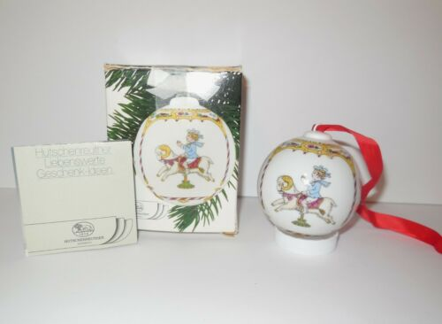 Hutschenreuther Germany 1988 Christmas Ornament Ball Porcelain Original Box