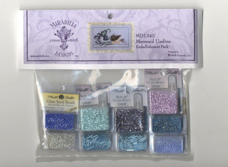 Cross Stitch ~ Mirabilia Embellishment Pack for Mermaid Undine #MD134E