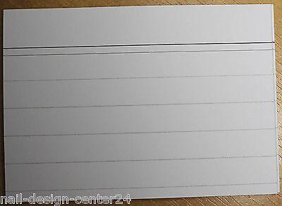 1000 Karteikarten DIN A8 weiß beidseitig liniert für Kartei Karten Kasten