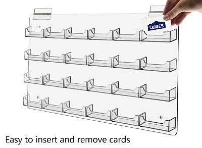 Business Gift Card Holder Multi Pocket Acrylic Slat Wall Display Rack