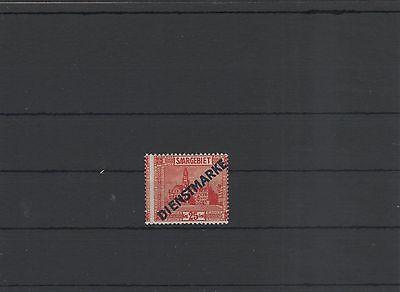 Saar Dienstmarke Jahrgang 1922 6 I Falz starke Verzahnung sh. mein Shop