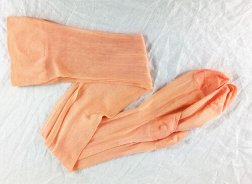 NOS Vintage 20s Seamed Stockings Peach Flapper Hose 1920s
