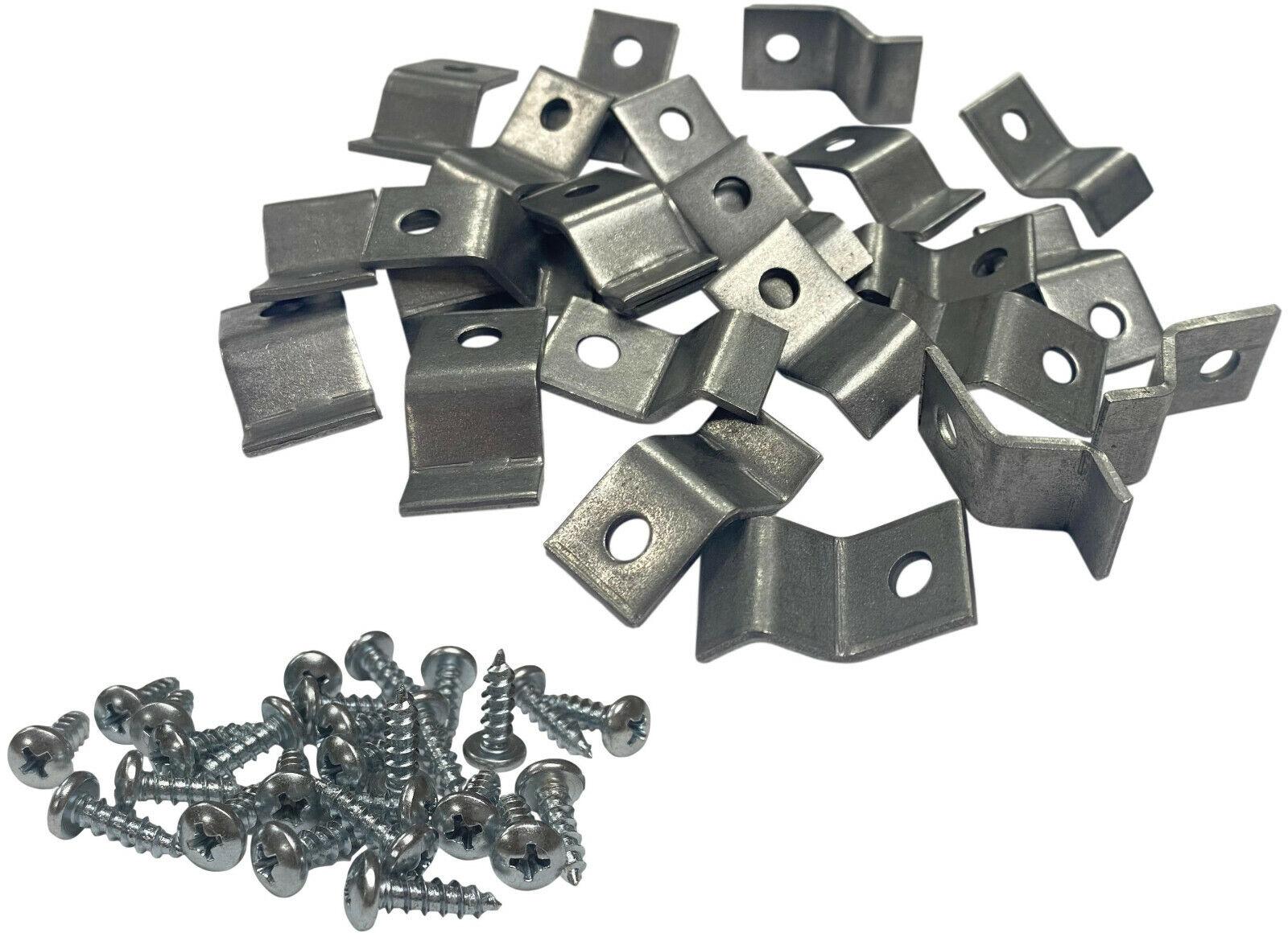 Table Top Fasteners Steel Brackets, 1/4″ Offset, 14 Gauge – Set of 24 Furniture