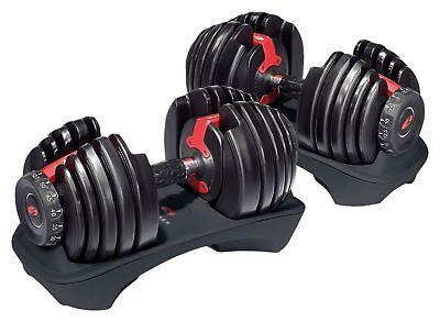 Dumbbells Adjustable Weight Bowflex Selecttech 552 Pair Fitness Workout Gym New